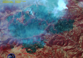 Satellite Image of Wildfires at Boulder 4 Mile Canyon