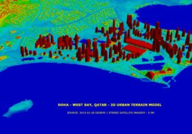 GeoEye-1 Satellite Images for 3D Urban and City Modeling