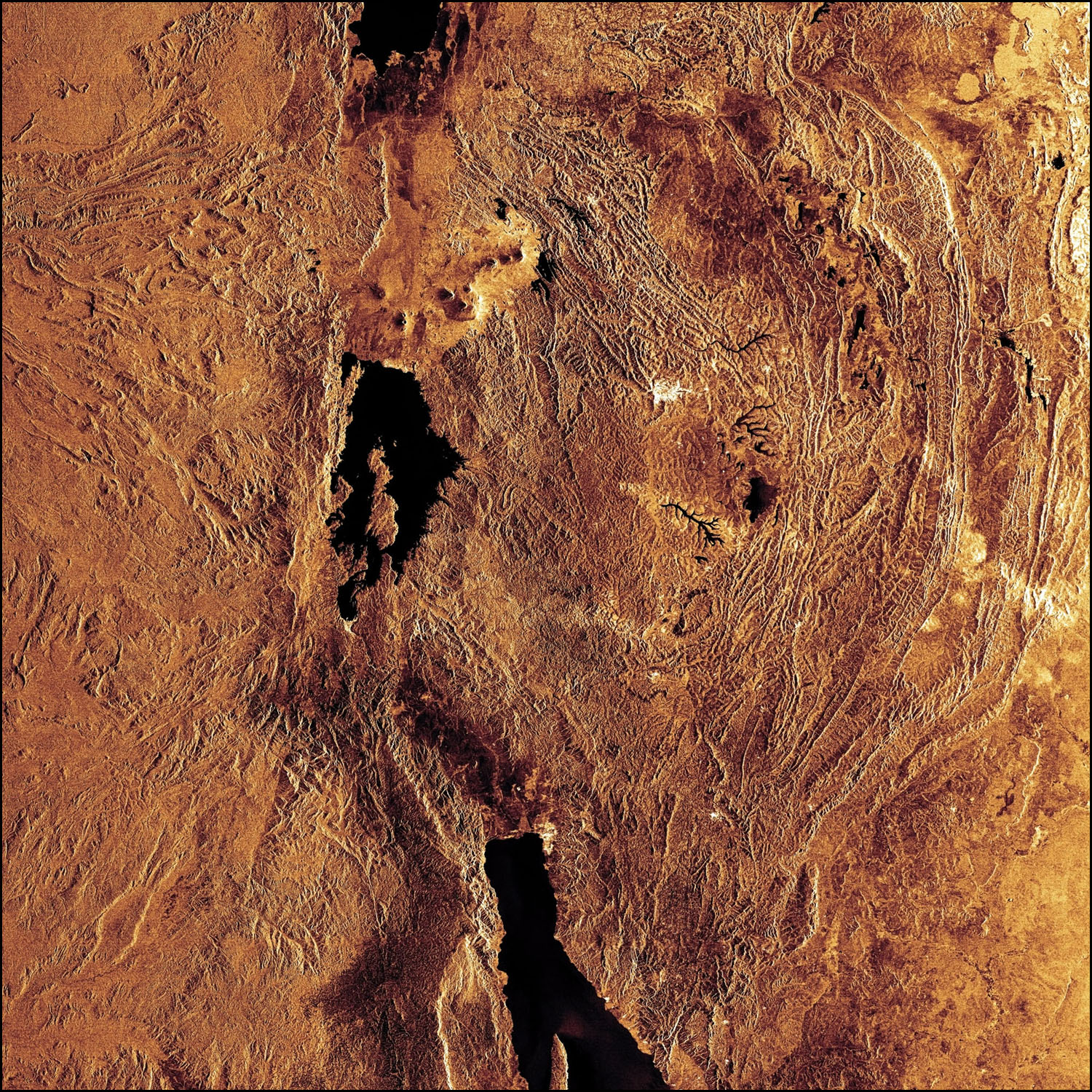 Satellite Image of Great Lakes of Africa