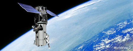 WorldView-2 Satellite in Orbit