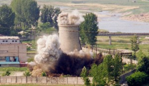 yongbyon north korea cooling tower destroyed