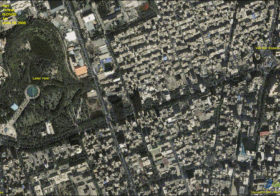 Aerial Overview of Tehran, Iran during Election Protests