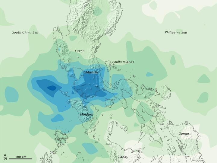 satellite image rainfall Ketsana
