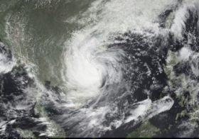 Satellite Image of Typhoon Ketsana Heading for Taiwan After Devastating Philippines