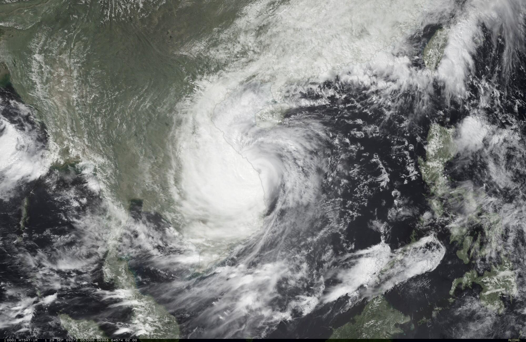 satellite image Ketsana