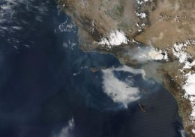 Satellite Images from MODIS Sensor Cover Southern California Forest Fires