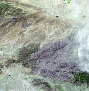 aster satellite image station fires california