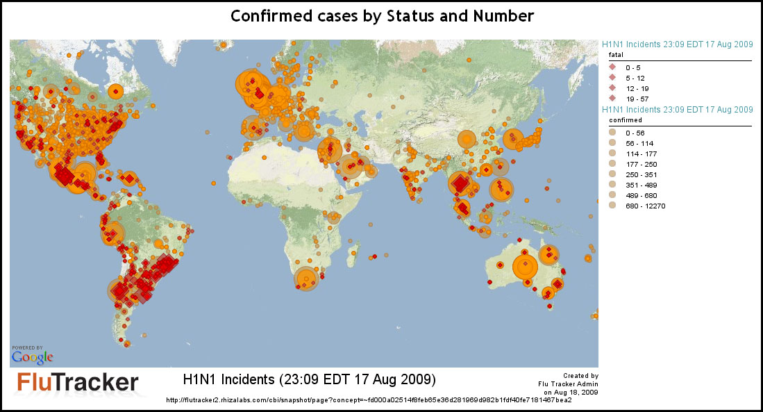 H1N1 Swine Flu Mapping