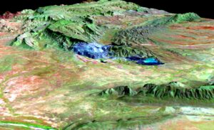 digital elevation model argyle_view_diamond_mine_3d