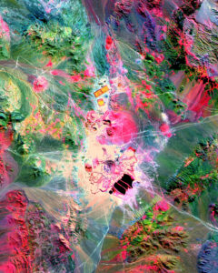 aster satellite image mining escondida chile