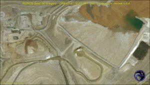 ikonos satellite image nevada-mining