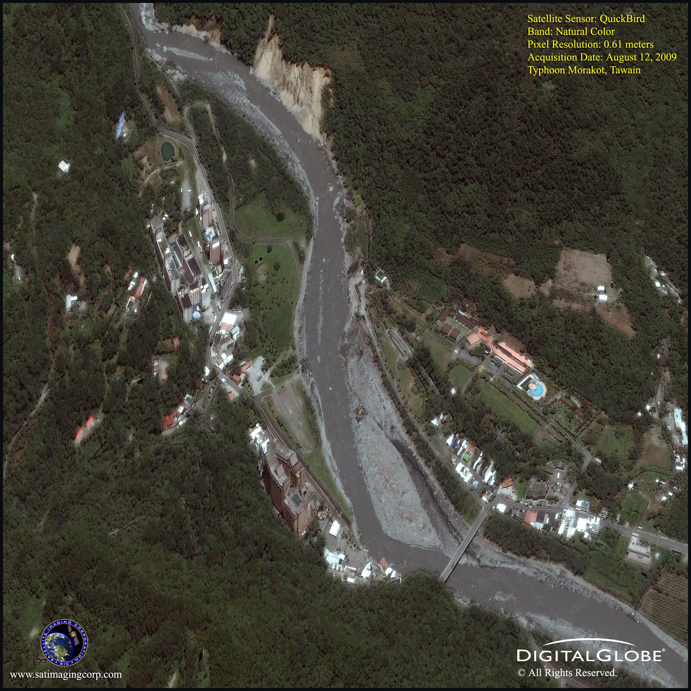 satellite image typhoon morakot Taiwan