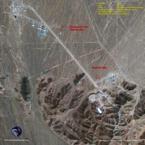 satellite image nuclear site Qom_iran