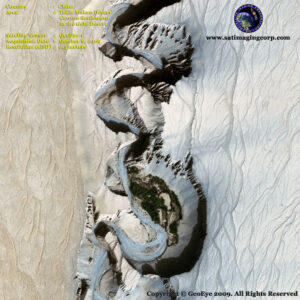 geoeye-1 satellite image desertification china desert