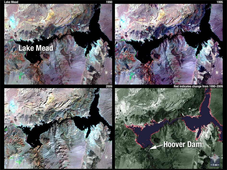 landsat satellite image lake mead drought