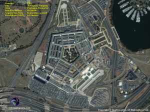satellite image Pentagon memorial