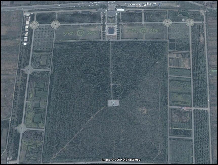 satellite image Qin Emperor Mausoleum