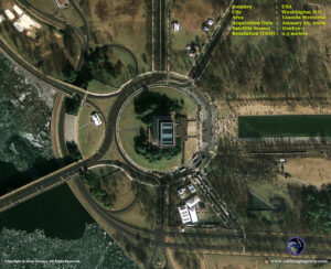 satellite image inauguration_lincoln memorial