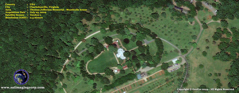 satellite image monticello_thomas jefferson