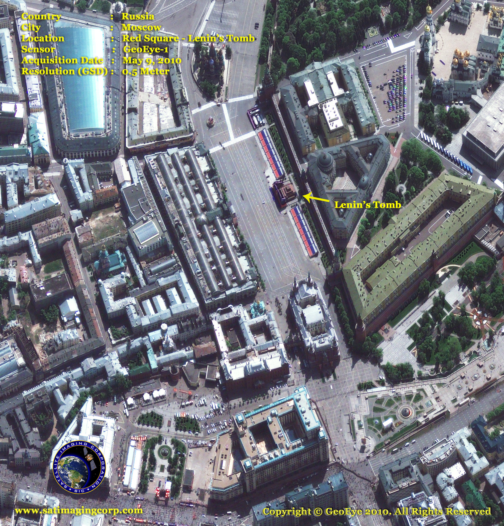 satellite image moscow_russia lenin's tomb