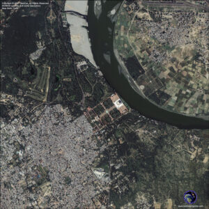 satellite image new-delhi-india-taj-mahal