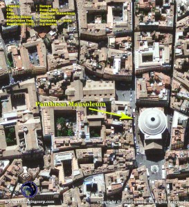 satellite image pantheon mausoleum 