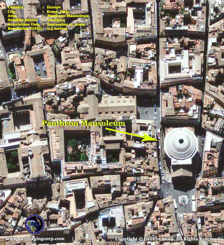 satellite image pantheon mausoleum