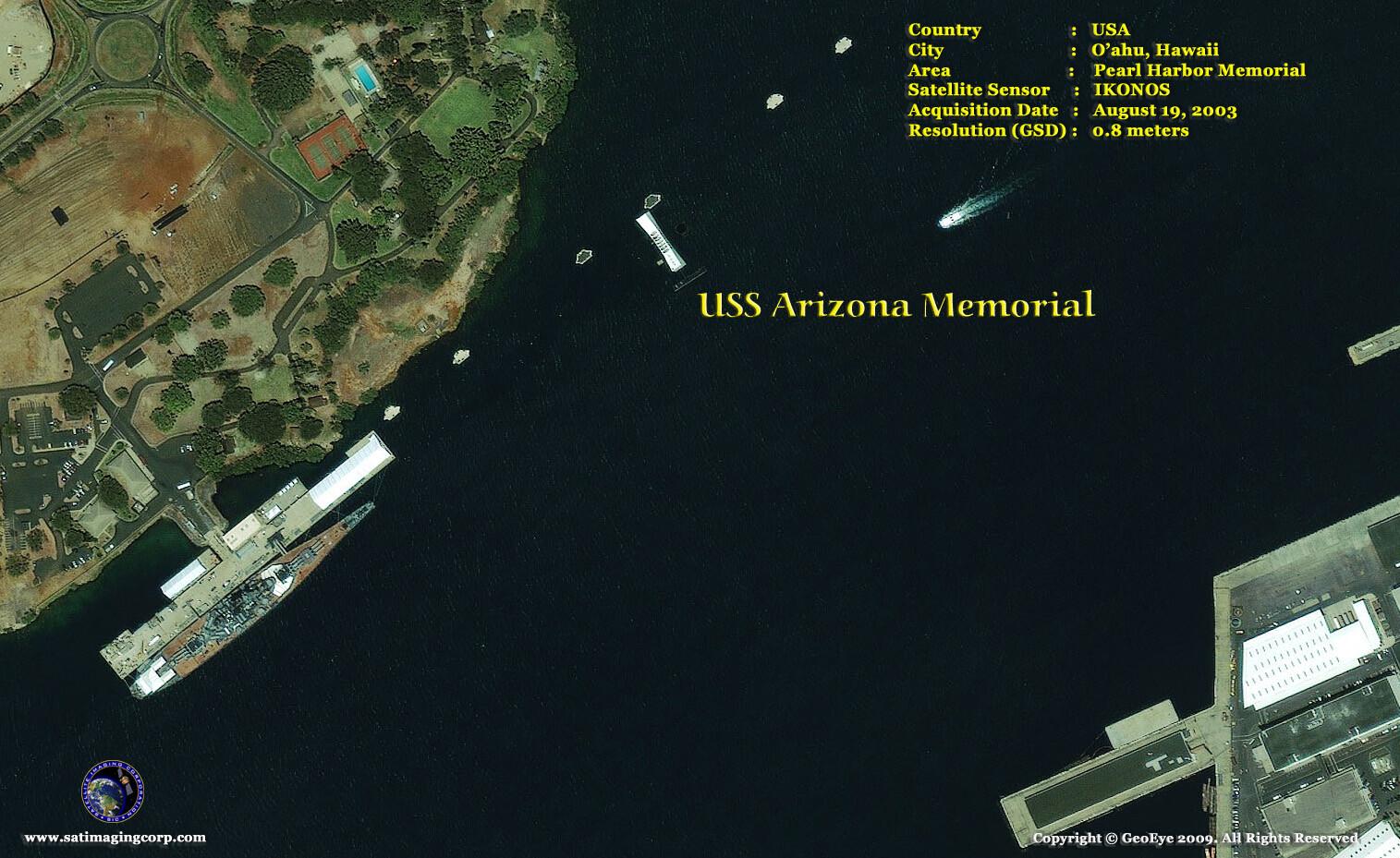 satellite image pearl-harbor memorial
