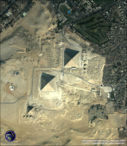 satellite images quickbird-giza pyramids-egypt