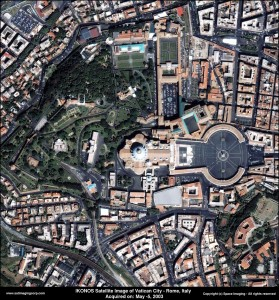 satellite image st. peter basilica vatican-city