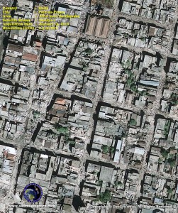 satelliet image Haiti port au prince after earthquake january 2010