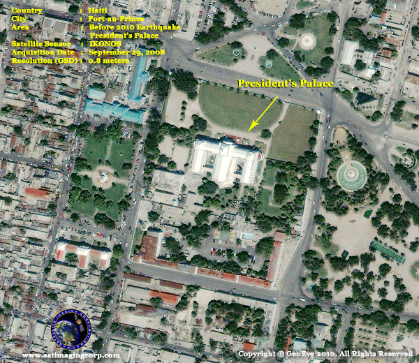 satellite image Presidents palace 2008 haiti port au prince