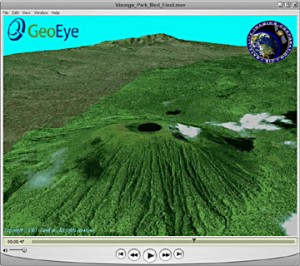 3d fly through virunga national parks visoke volcano