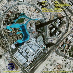 satellite image tallest building in the world dubai_uae