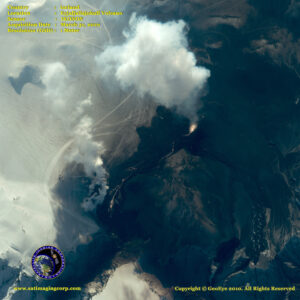 satellite photo eyjafjallajoekull eruption ikonos