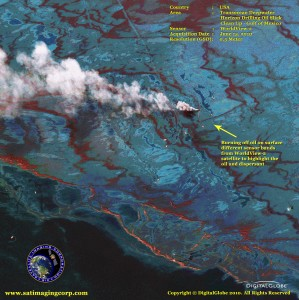worldview-2 Gulf of Mexico Oil Spill satellite photo
