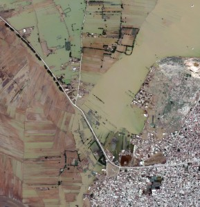 satellite image Flooding-Nowshera, Pakistan