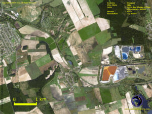 spot satellite image toxic red sludge hungary kolontar