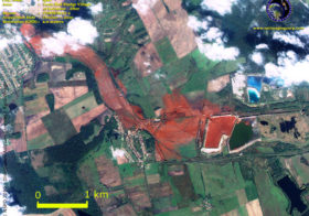 Satellite Images Capture Toxic Red Sludge