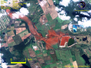 formosat 2 satellite image hungary toxic spill 
