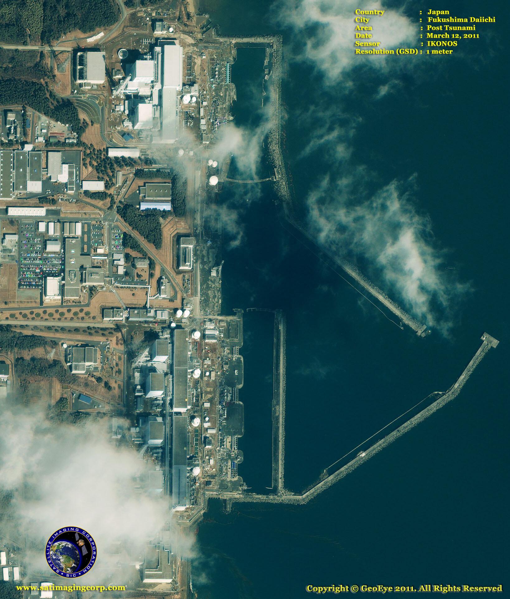 satellite image Fukushima_Daiichi_