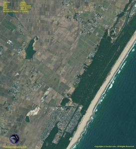 satellite photo Sendai_japan pre and post tsunami
