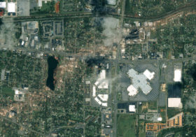 Satellite Image of Devastating EF 4 Tornado Damage in Alabama