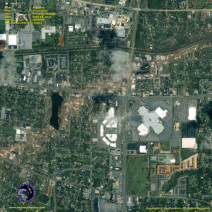 satellite image tuscaloosa_alabama tornado damage