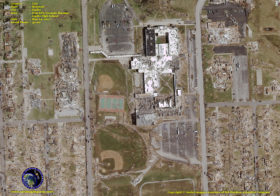 Aerial Photography of Damage from Devastating Post EF5 Tornado that Hit Joplin Missouri