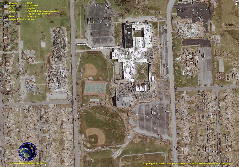 aerial photograph joplin missouri tornado