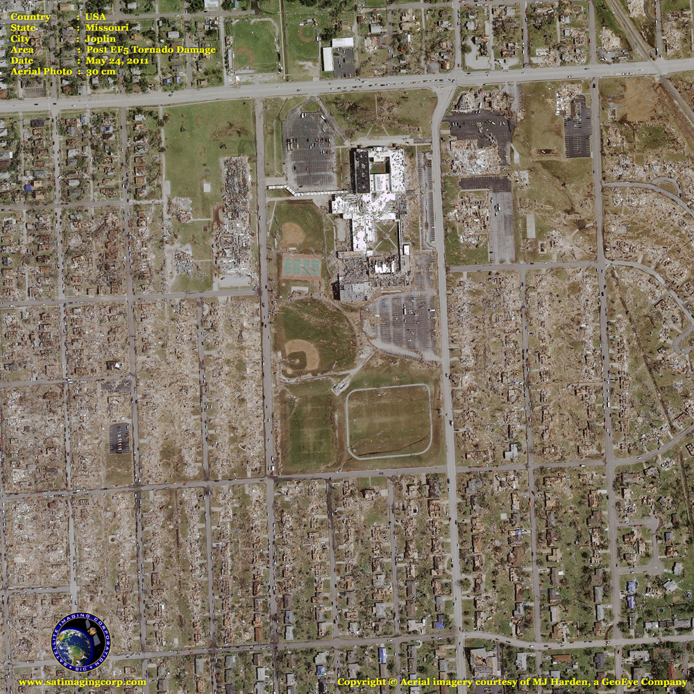 aerial photo joplin tornado missouri
