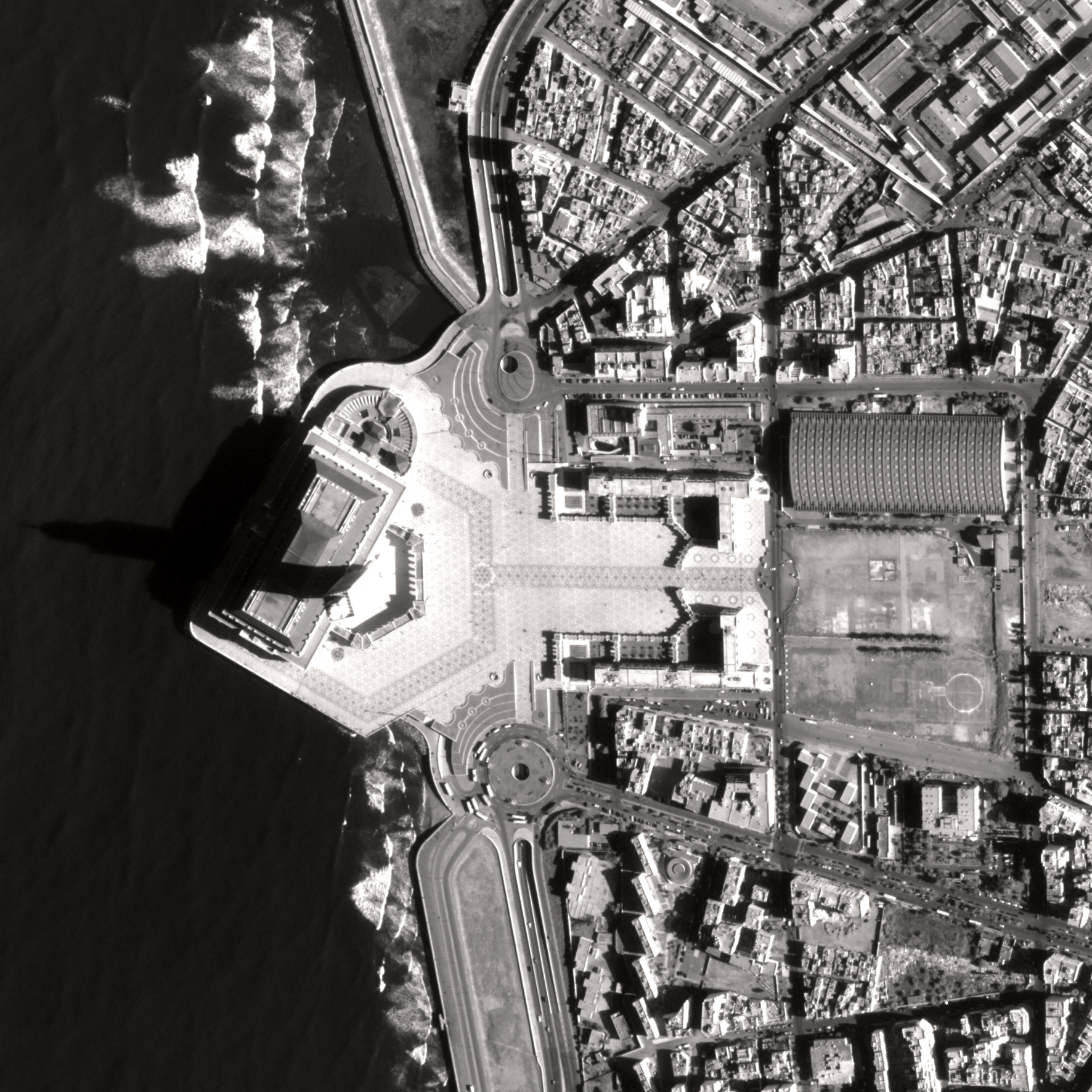 satellite image pleaides 1 Casablanca Mosquee