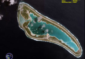 Satellite Image of Nikumaroro Island – Amelia Earhart's Final Destination?