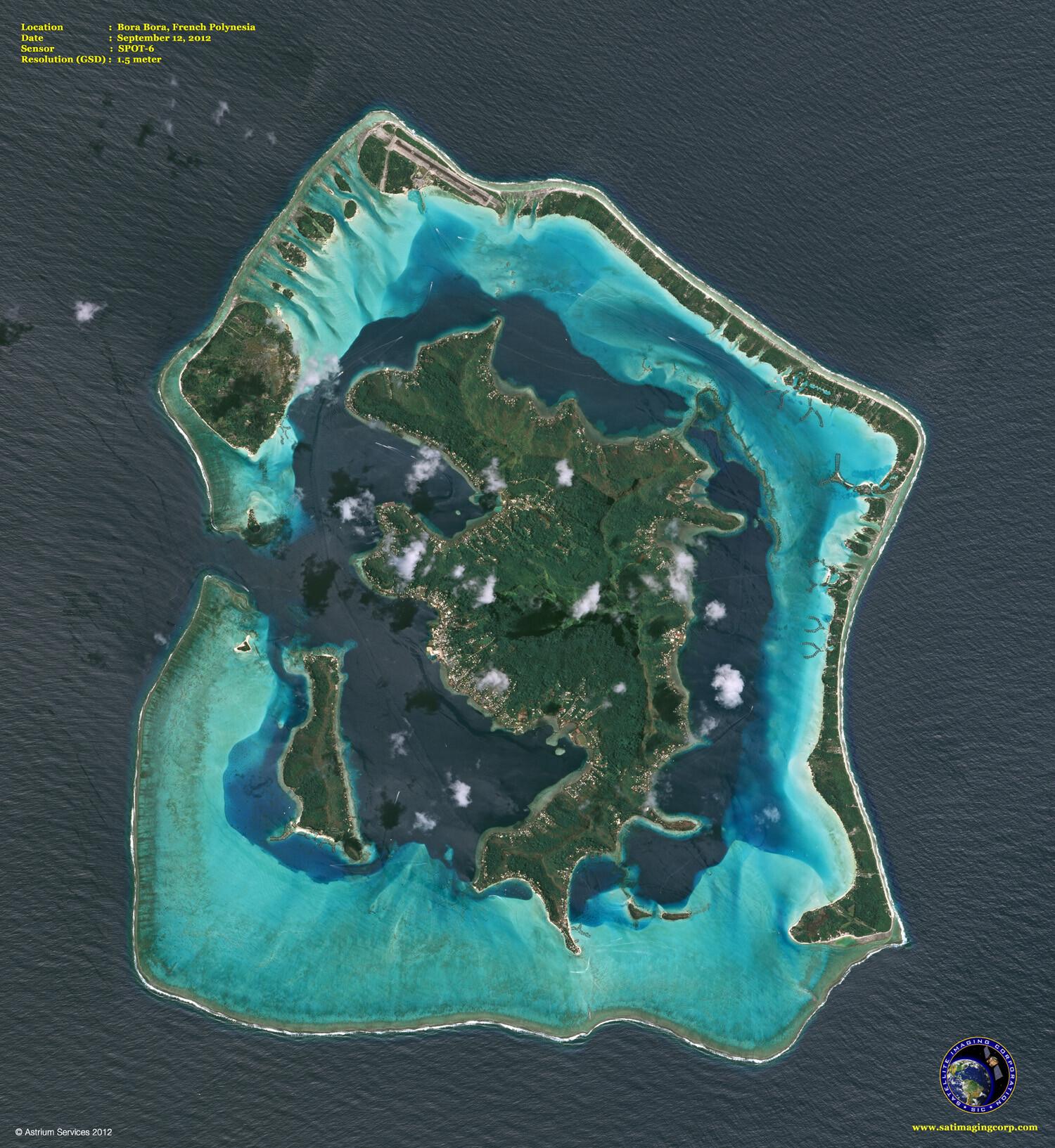 Satellite Image Bora Bora